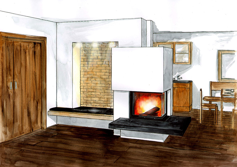 eckkamin steinkorb eckkamin steel fireplace eck kamin s. Black Bedroom Furniture Sets. Home Design Ideas